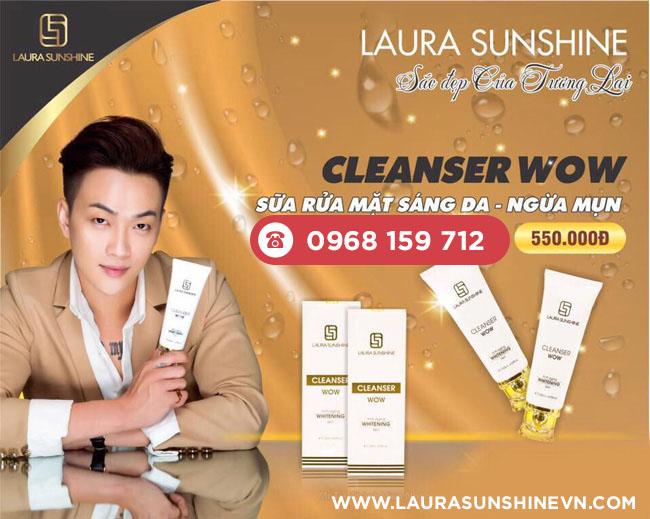 Sữa rửa mặt làm sáng da, ngừa mụn Laura Sunshine - Cleanser Wow (120ml)