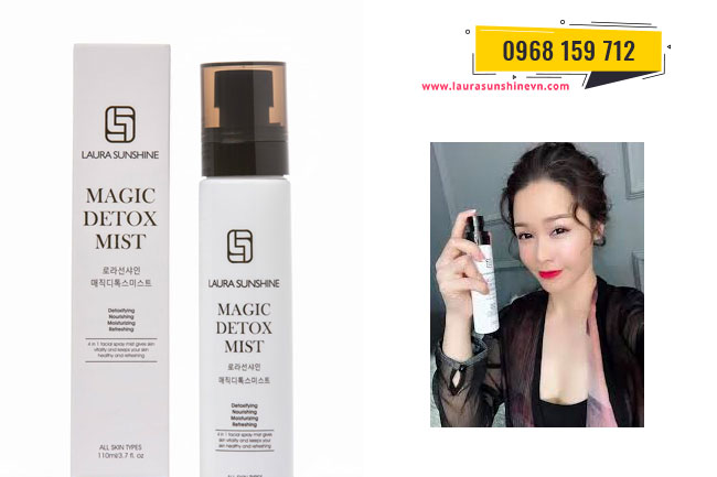 Xịt thải độc da Laura Sunshine - Magic Detox Mist