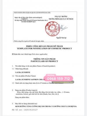 [Certificate] Saffron cream