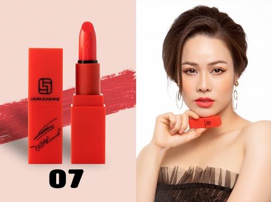 Son không chì Laura Sunshine Nhật Kim Anh Sexy 07 - Màu Hồng Neon