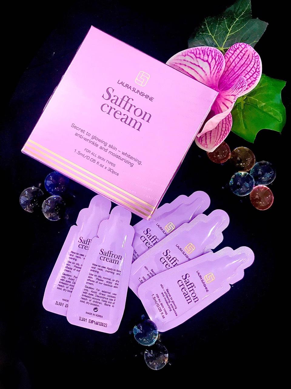 Kem dưỡng nhụy hoa nghệ tây Laura Sunshine gói nhỏ (30 gói/ hộp)