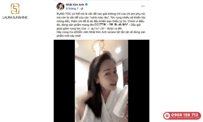 Post facebook của Nhật Kim Anh vào ngày 7/9/2021
